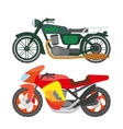 Motorcycle motorbike flat icons set vector image vector image