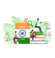 online hindi language courses flat vector image