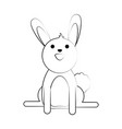 pet rabbit smiling vector image vector image