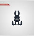 rabbit icon simple vector image vector image