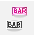 realistic design element bar vector image