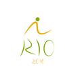 Rio de Janeiro Brazil 2016 Olympic Games design vector image