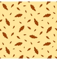 Seamless pattern autumn leaves oak vector image vector image