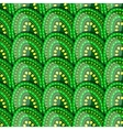 Seamless pattern of green eggs with peas vector image