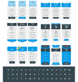 Set of Pricing Table Design Templates for Websites vector image vector image