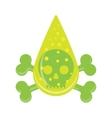 sign Drop skull Poison symbol vector image vector image