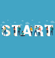 start concept for web site header vector image vector image