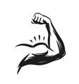 strong muscle arm power symbol