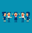 successful business people with business team vector image