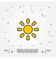 Sun thin line design Sun pen IconSun pen IconSun p vector image