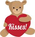 Teddy Kisses vector image