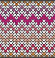 tile colorful zig zag knitting pattern vector image vector image
