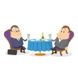 Two businessman near table isolated vector image