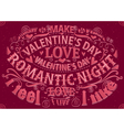 Valentines Day card with lettering vector image vector image