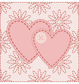 valentines sewed with button vector image