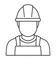 welding man icon outline style vector image