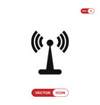 wifi signal tower icon vector image vector image