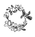 wreath in engraving style vector image