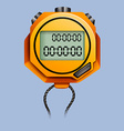 Yellow stopwatch with rope vector image vector image