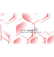 abstract background concepts of hexagon shapes vector image vector image