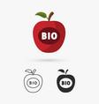 apple bio icon vector image vector image