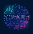 aquarium round concept creative colored vector image