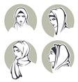 arabian girls vector image vector image