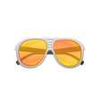 aviator sunglasses with yellow-orange gradient vector image