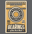 bearings and spare parts car repair service vector image