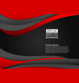 black and red color geometric abstract background vector image vector image