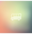 bus icon on blurred background vector image vector image