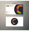 Business card template letter C vector image vector image