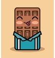 chocolate bar kawaii icon design vector image