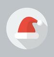 Christmas Flat Icon Santa hat vector image vector image