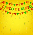 cinco de mayo colorful bunting vector image vector image
