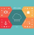 cloud rain line icon vector image
