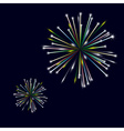 colorful shiny fireworks on black background eps10 vector image