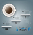 cup coffe tea drink - business infographic vector image vector image