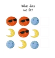Educational game what does not fit vector image vector image