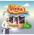 facade pizzeria vector image vector image
