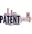 free patent text background word cloud concept vector image vector image