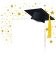 graduate cap with diploma on a background a vector image vector image