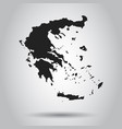 greece map black icon on white background vector image vector image