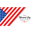 happy memorial day remember and honor poster vector image
