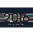Happy new 2016 year Colorful design in line vector image vector image