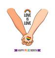 happy pride month vector image
