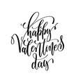 happy valentines day black and white hand vector image