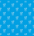 heart cactus pattern seamless blue vector image vector image