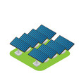 isometric flat 3d concept outside solar panels vector image vector image