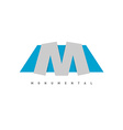Letter M logo vector image vector image